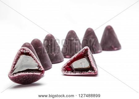 This pyramid shape of an cuberdons is a very tasty candy from Ghent