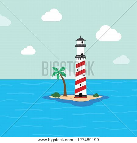 Beach Lighthouse Seashore View
