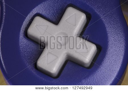 Macro extreme close up video game controller buttons