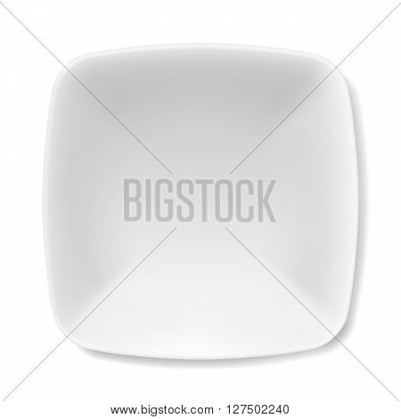 Empty white soup-plate isolated on white background
