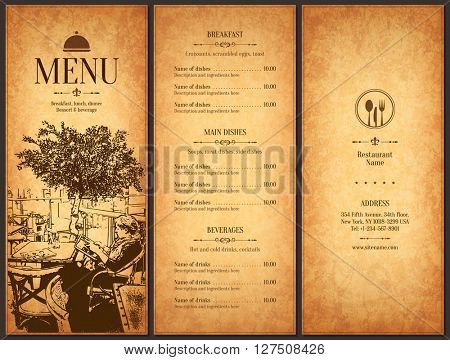 Restaurant Menu Design Vector Vector  Photo  Bigstock