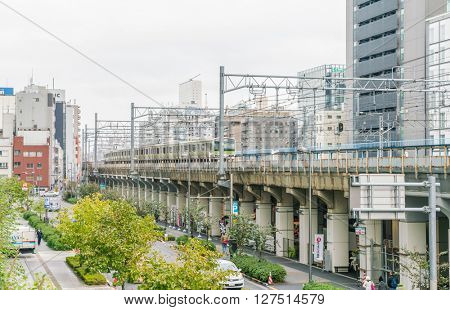 TOKYO- NOVEMBER 26 :JR Akihabara Staion on NOVEMBER 26, 2015. It's a railway station located in Tokyo's Chiyoda ward, the center of the famous Akihabara shopping district.