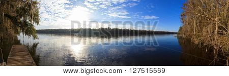 180 degree panorama of Suwanee River