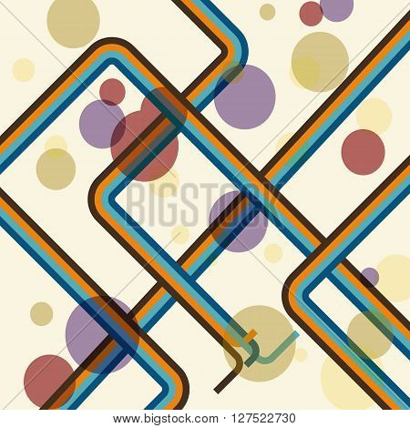 Adstract colorful line retro background, stock vector