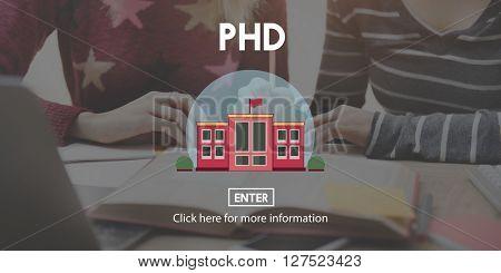 PHD Academic Education Degree Study Concept