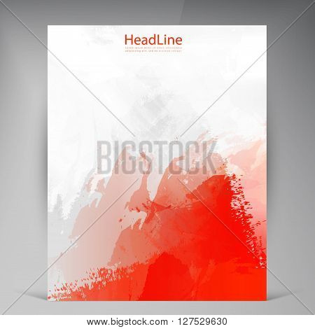 Abstract vector modern flyers grunge brochure. Business brochure flyer design layout template in A4