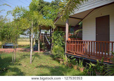 CHACHOENGSAO, THAILAND, NOVEMBER 10 : small home in Khlong Preng resort at Chachoengsao Thailand on the 10 November, 2015