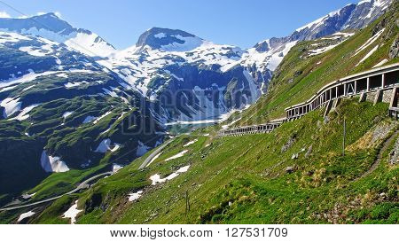 Grossglockner is a panoramic road in Austria.