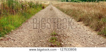 Dirt road by Beckingen Saarland - Germany