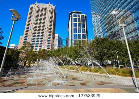 Houston Discovery green park in downtown Texas