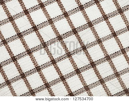 Textile Background - Checkered Cotton Fabric