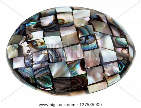 Mosaic From Polished Pieces Of Nacre Mollusk Shell