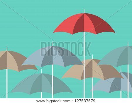 Bright Red Unique Umbrella