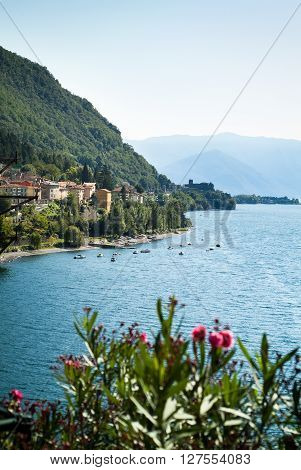 a view of Dervio a small town near Lake Como in north Italy