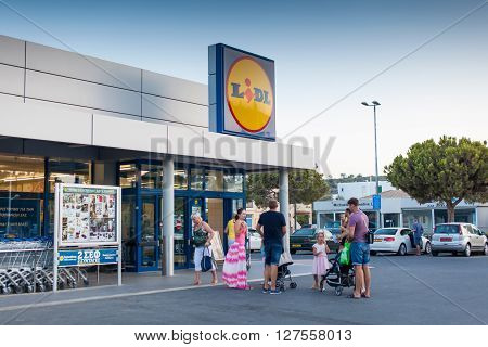 CYPRUS, PROTARAS - 19 September 2015: Supermarket LIDL in Protaras