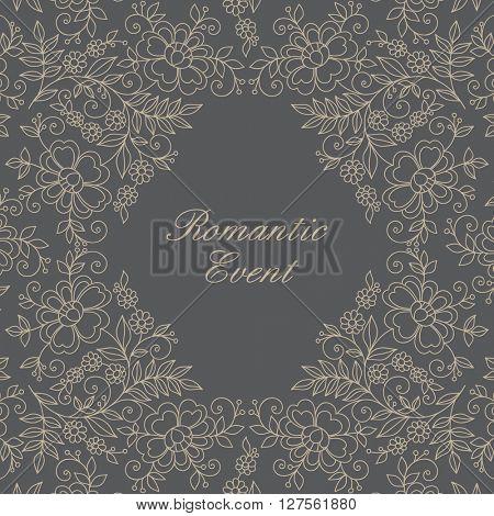 Elegant ornamental frame. Invitation card.