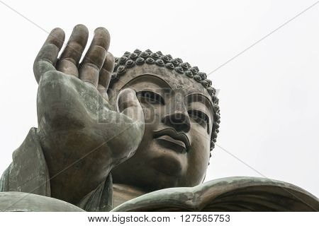 Tian Tan Buddha - The worlds's tallest bronze Buddha in Lantau Island, Hong Kong