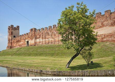 The medieval walls of Castelfranco Veneto (Treviso Veneto Italy)