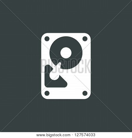 Hard Drive Icon In Vector Format. Premium Quality Hard Drive Symbol. Web Graphic Hard Drive Sign On