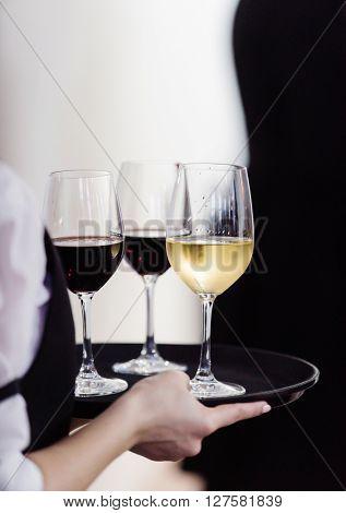 waiter with wine