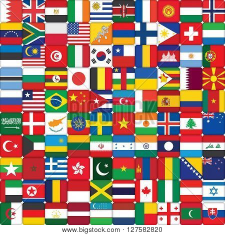square background made of world flag icons