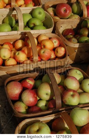 Baskets Of Assorted Apples