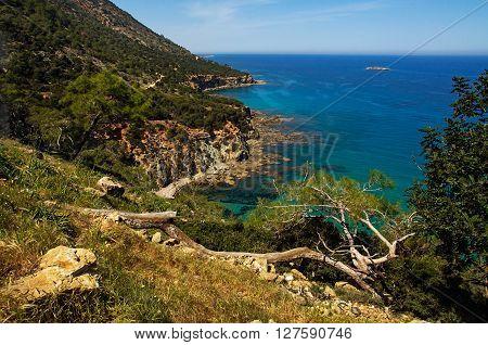 Top View On The Mediterranean Coast
