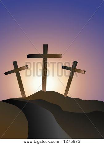 Crosses On A Hillside