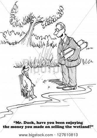 Cartoon about not adequately preserving the environment.