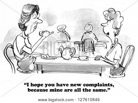 Cartoon about two best friends who enjoy complaining.