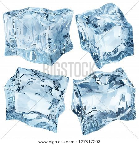 Light Blue Opaque Ice Cubes