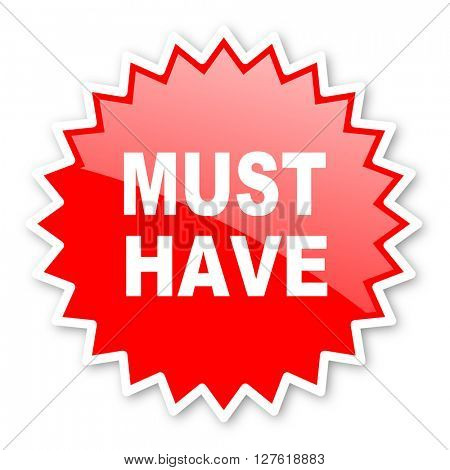 must have red tag, sticker, label, star, stamp, banner, advertising, badge, emblem, web icon