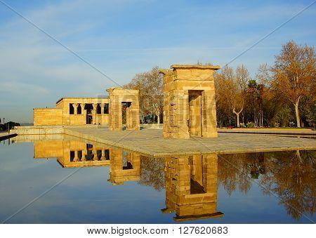 Templo de Debod. Parque del Oeste in Madrid