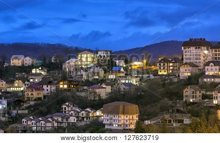 The city of Sochi, view residential houses. Russia