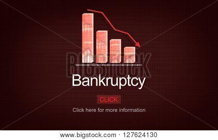Bankruptcy Debt Loan Owed Payment Trouble Concept