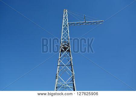 Steel Girder in the Blue Sky. Metal construction.