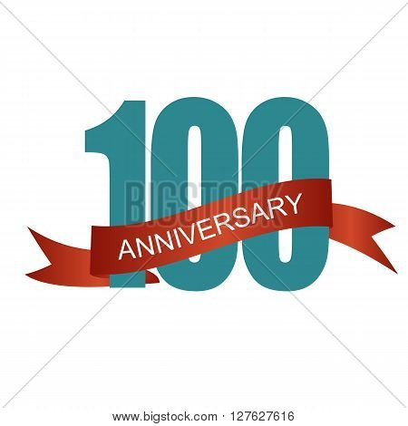 One Hundred 100 Years Anniversary Label Sign for your Date. Vector Illustration EPS10
