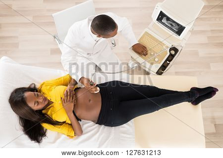 Gynecologist Checking Pregnant Woman