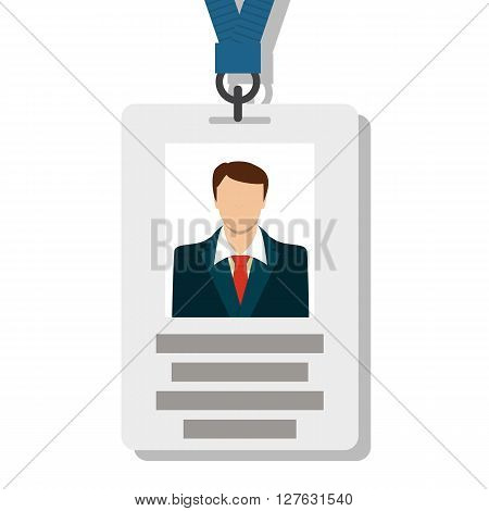 Badge, Pass Card ID in Modern Flat Style Vector Illustration