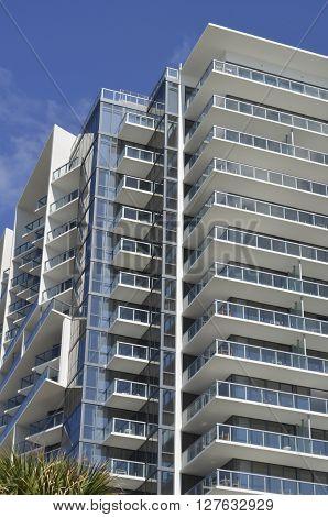 modern luxury high-rise building in miami beach,florida