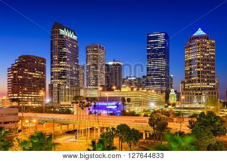 Tampa, Florida, USA downtown skyline.