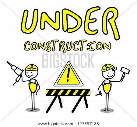 Under construction banners .eps10 editable vector illustration design