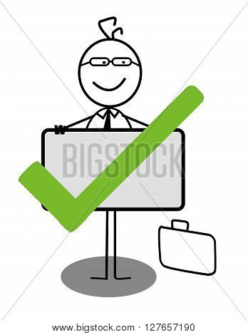 Choose businessman .eps10 editable vector illustration design