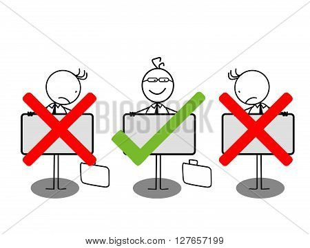 Choose businessman .eps10 editable vector illustration design