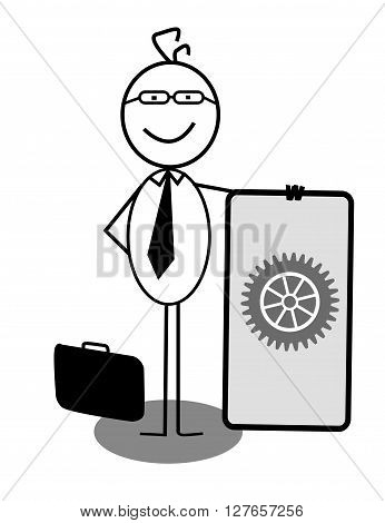 Businessman Progress Banner .eps10 editable vector illustration design