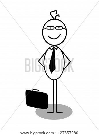Businessman stand up .eps10 editable vector illustration design