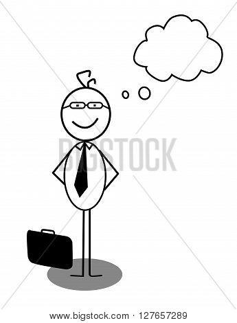 Businessman Idea Opinion .eps10 editable vector illustration design