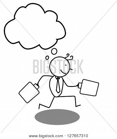 Businessman run .eps10 editable vector illustration design