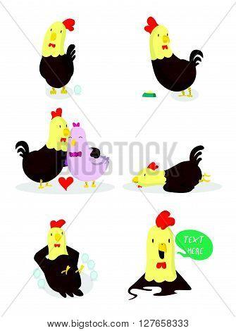 Chicken illustration .eps10 editable vector illustration design