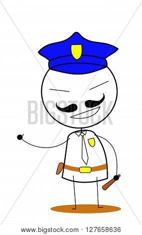 Police vector .eps10 editable vector illustration design